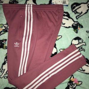 adidas Pants - Adidas 3 stripes pants dusty pink women